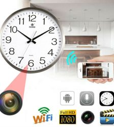 HD Nanny Cam Wall Clock Wifi Hidden Spy Camera