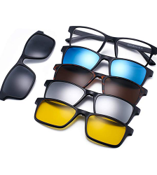 Magnetic 5pcs Polarized Clip-on Sunglasses