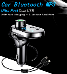Q15 Car Bluetooth Fm Modulator Fast Charger